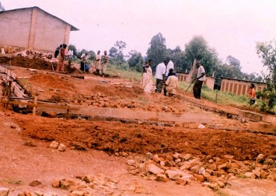 Preparing the site for the two classrooms.