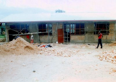 Classrooms with the roof in place.