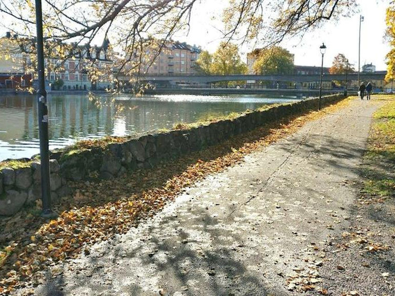 A riverside walk near the old town