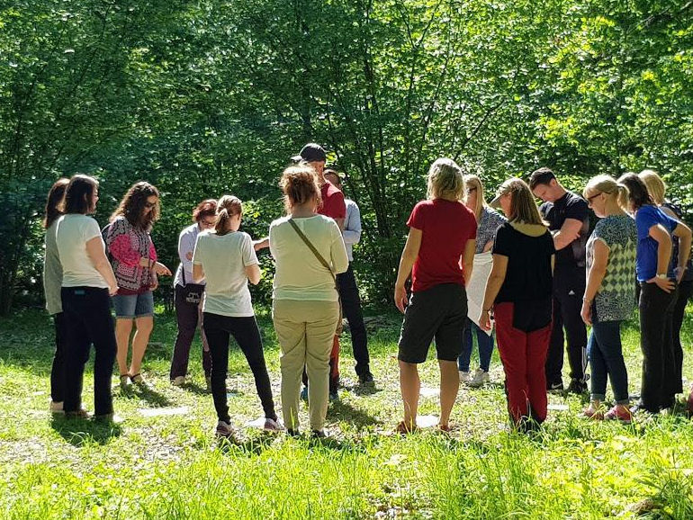 Forest School activities with Magnus and Marlene